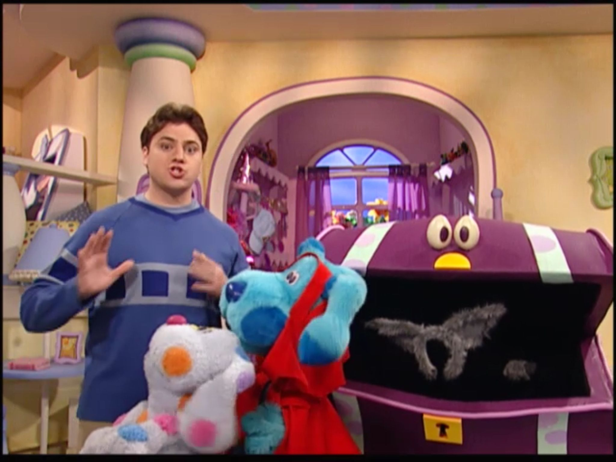 Joe Wants To Dressed As A Wolf From Blue S Room Little Blue Ridding Hood Blue S Clues Elmo World Blue Rooms