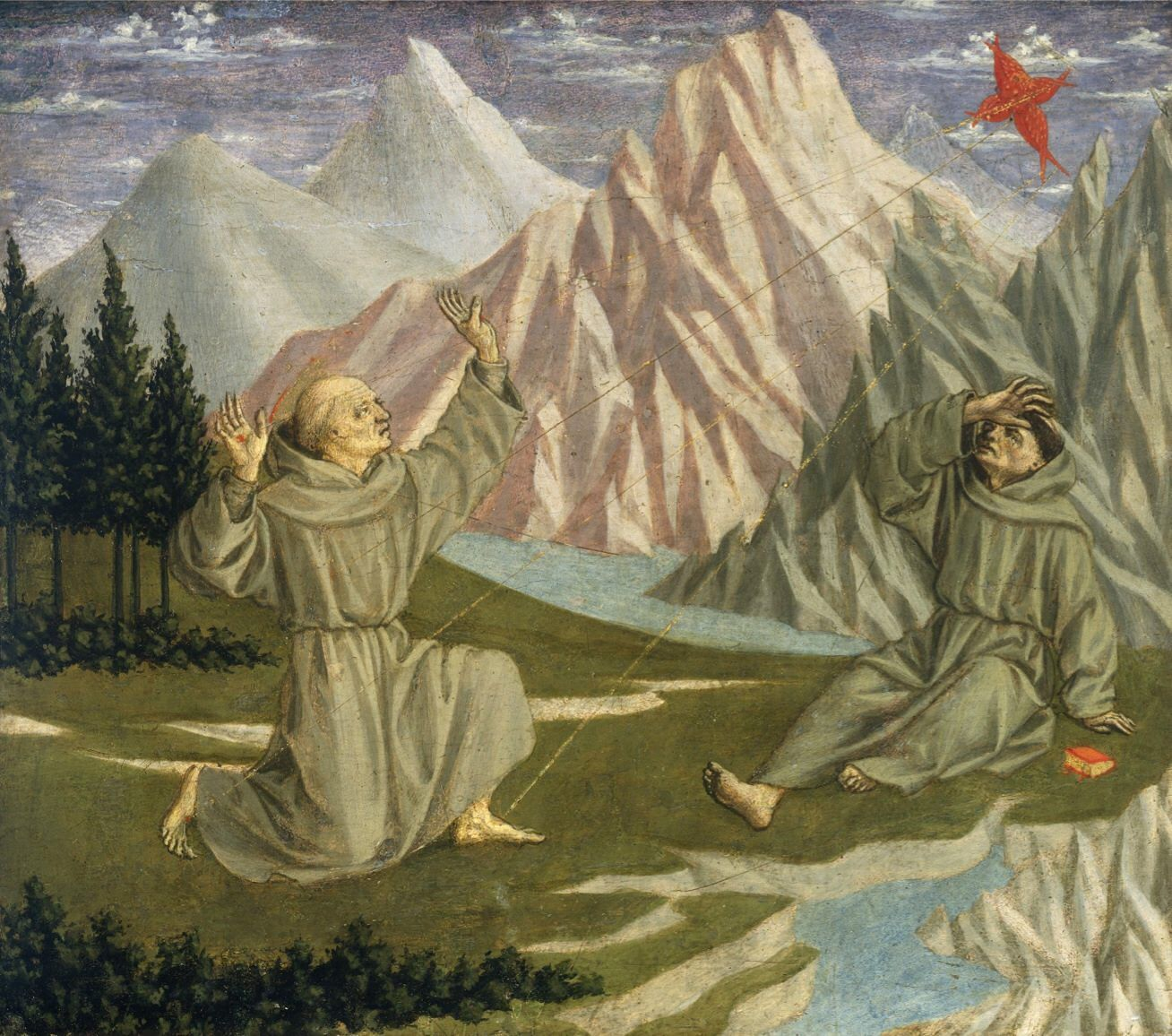 Domenico Veneziano - Saint Francis Receiving the Stigmata