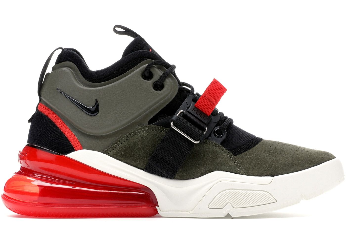 09ef3507 Check out the Air Force 270 Medium Olive/Challenge Red available on StockX