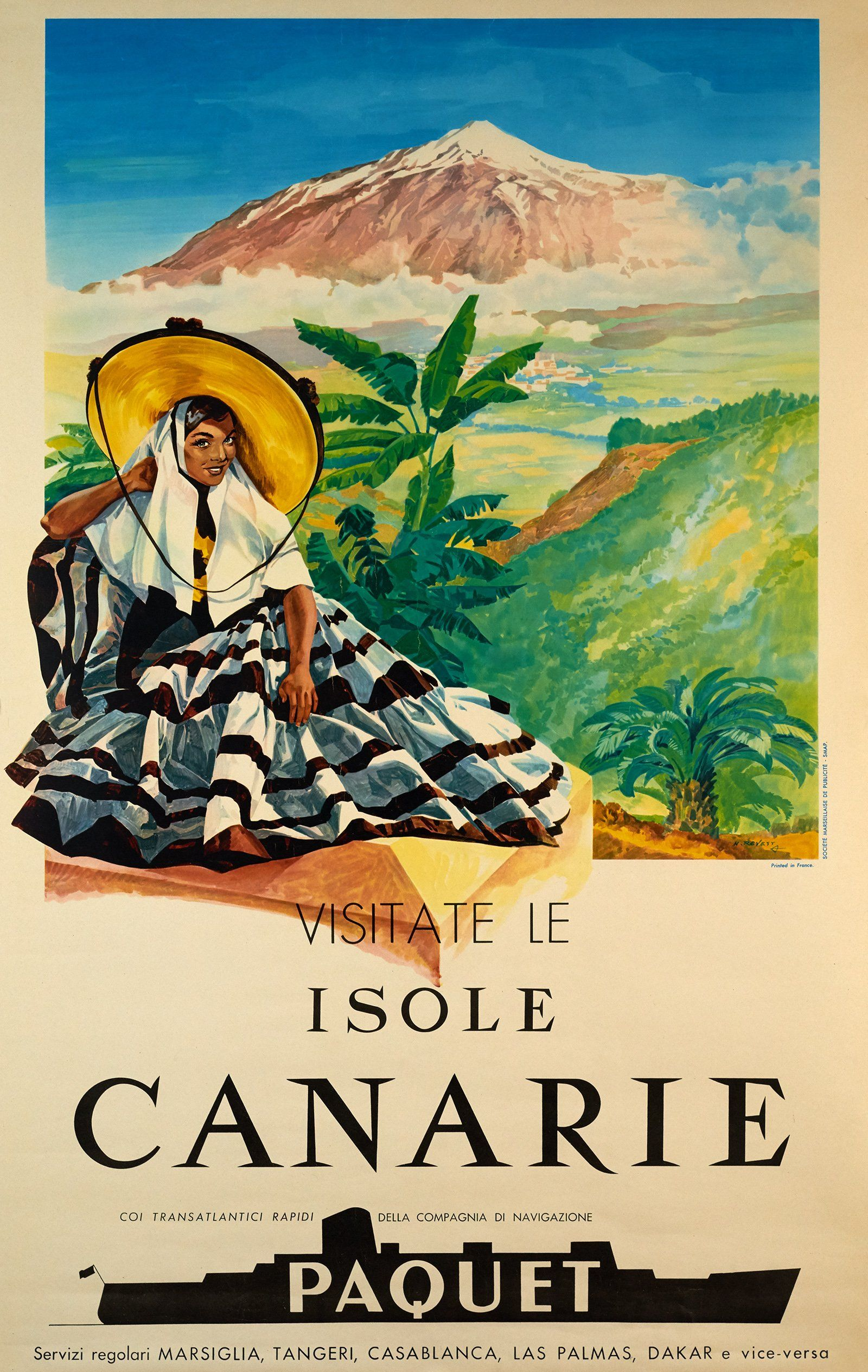 Vintage Poster Visitate Le Isole Canarie, Paquet Galerie 1 2