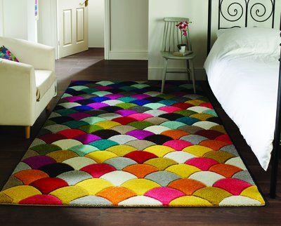 Spectrum - Alfombra / Tapete con diseño moderno y abstracto - Multicolor  Jive 120 x 170cm