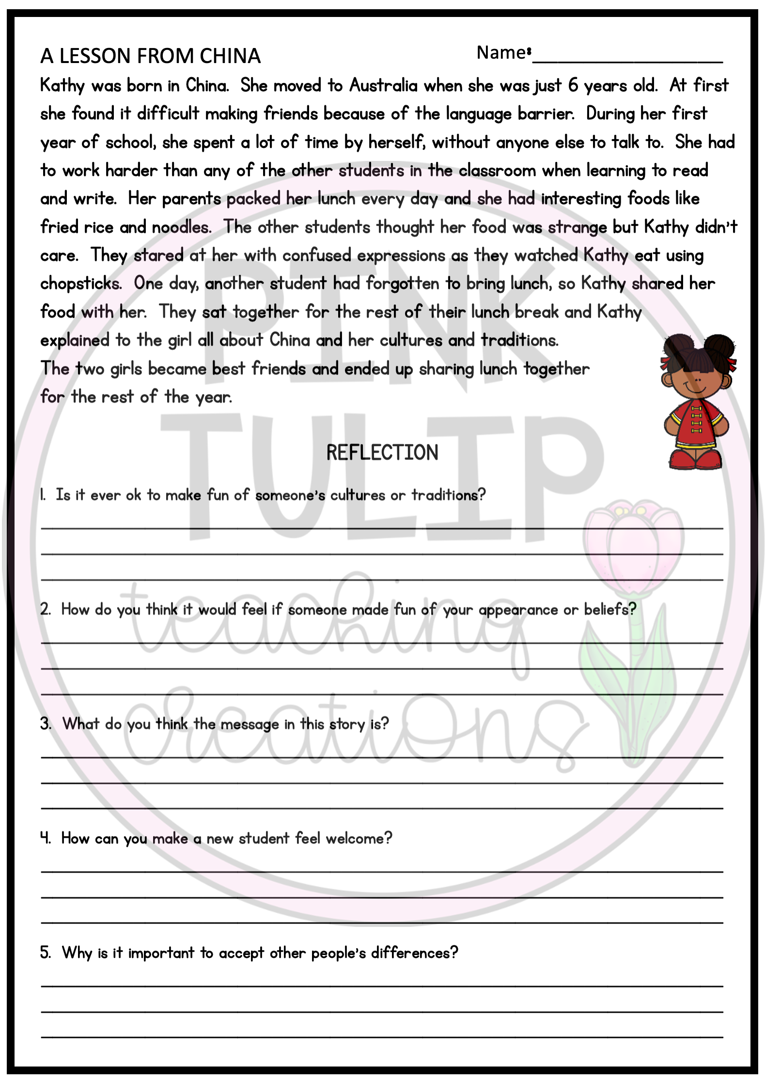 Social Emotional Comprehension Passages With Reflection Questions In 2021 Comprehension Passage Social Emotional Learning Activities Social Emotional [ 2234 x 1579 Pixel ]