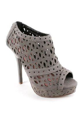 or these? trying to pick grey shoes to go with a floor length navy bridesmaid dress.