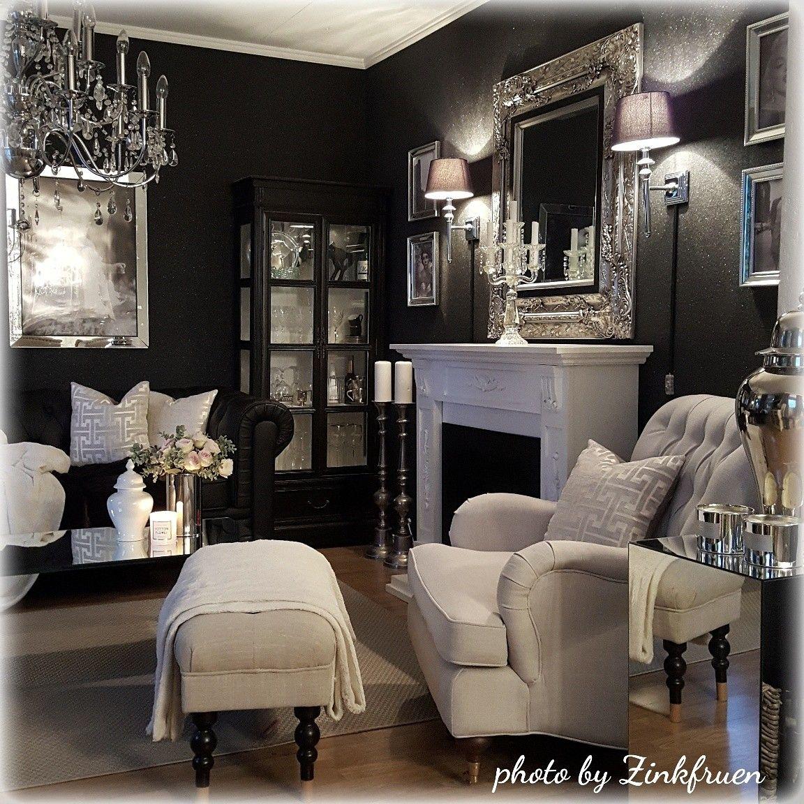 Champagnemami03 Black Living Room Home Living Room Luxury