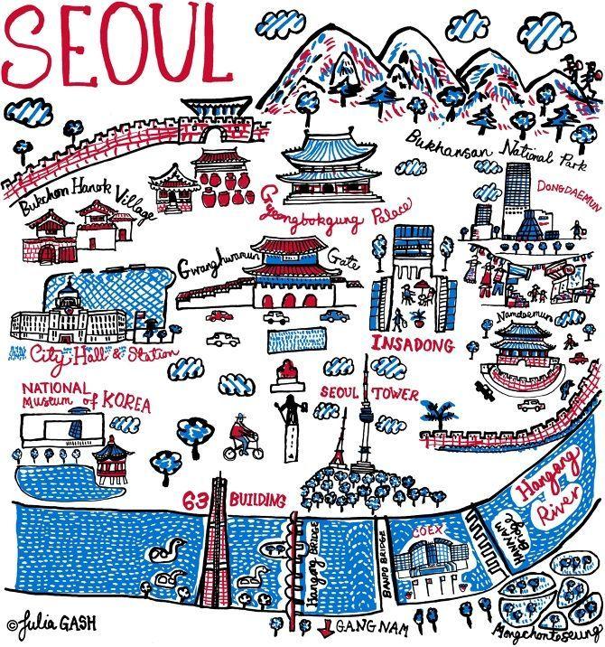 Pin by cikpeanut on Seoul Pinterest Korea, Seoul and South korea - best of world map at night korean