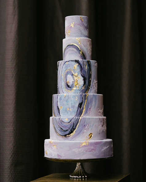This mind-blowing cake that looks like agate. | 25 Incredibly Beautiful Wedding Cakes That Won 2015