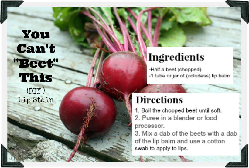 """A Kiss of Bliss: """"You Can't 'Beet' This"""" DIY Lipstain   #akissofbliss #redlipstick #beauty #diy"""