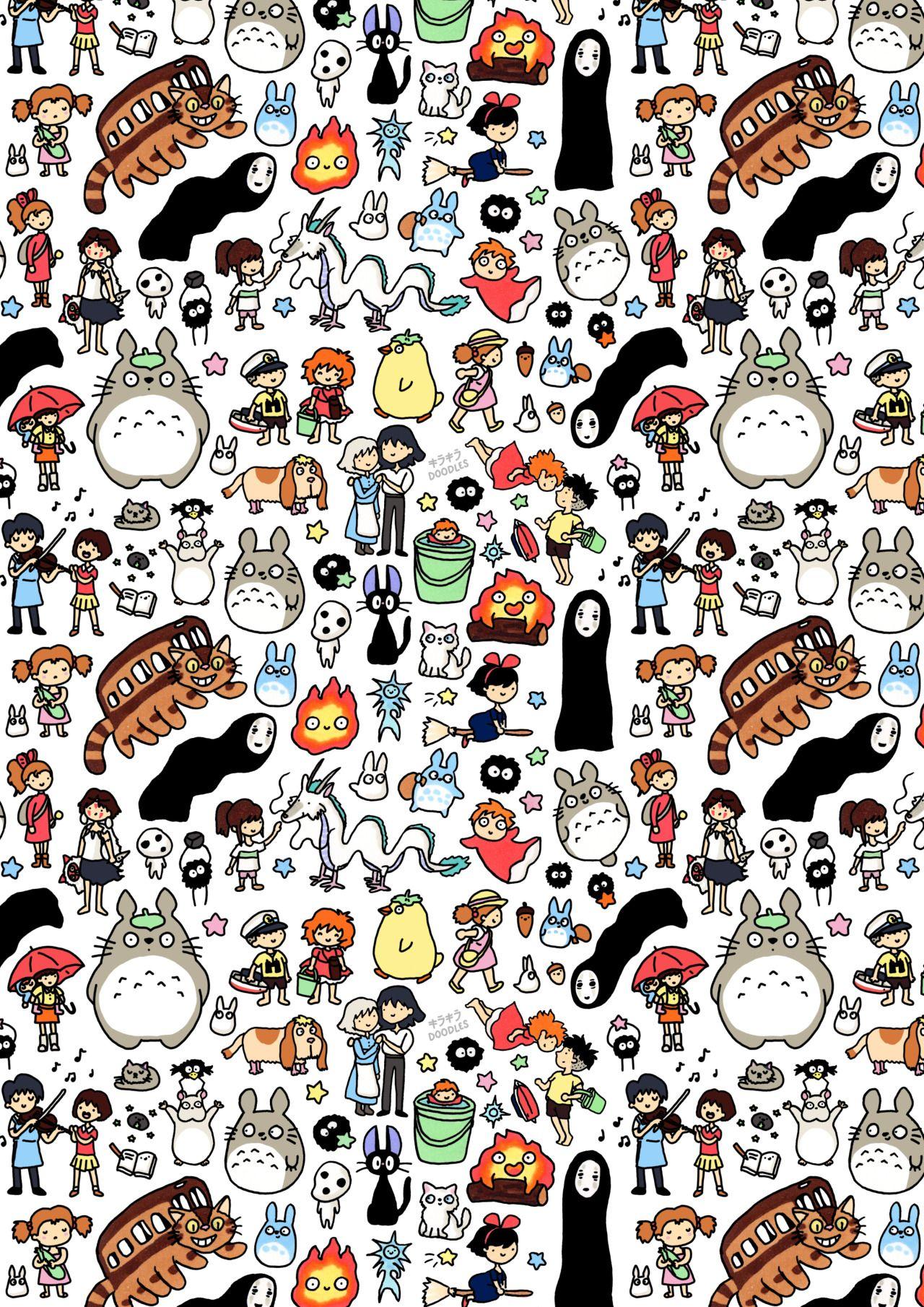 I finally finished my Ghibli doodle, yayyy! (ノ^-^)ノ☆