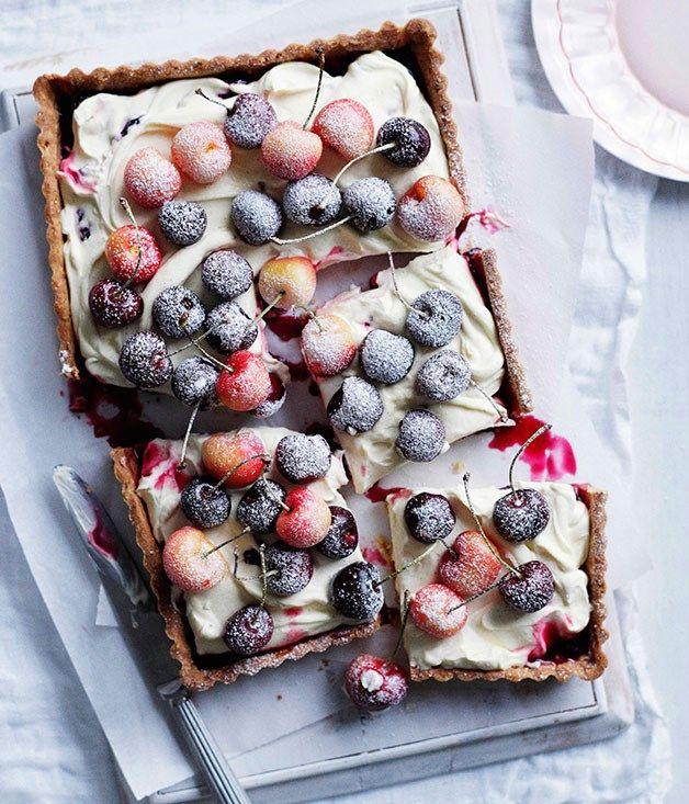 Cherry and almond tart is part of Christmas dessert Australian - Australian Gourmet Traveller Christmas dessert recipe for cherry and almond tart
