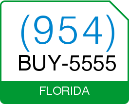 Florida Area Code 954 Purchase Local Vanity Telephone Number BUY 5555