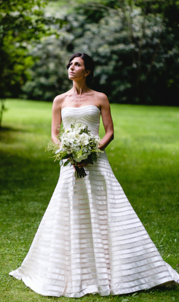 Custommade Vera Wang couture wedding dress, in the famous