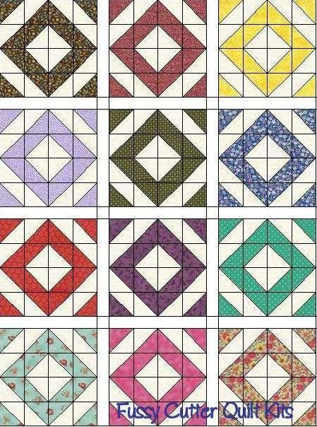 Pin von Kirsten Ingham auf Patchwork: Half Square Triangles ...
