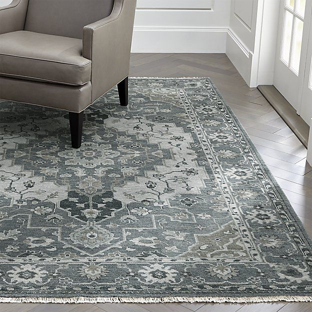 Nola Blue Persian Style Rug Crate And Barrel Rugs In