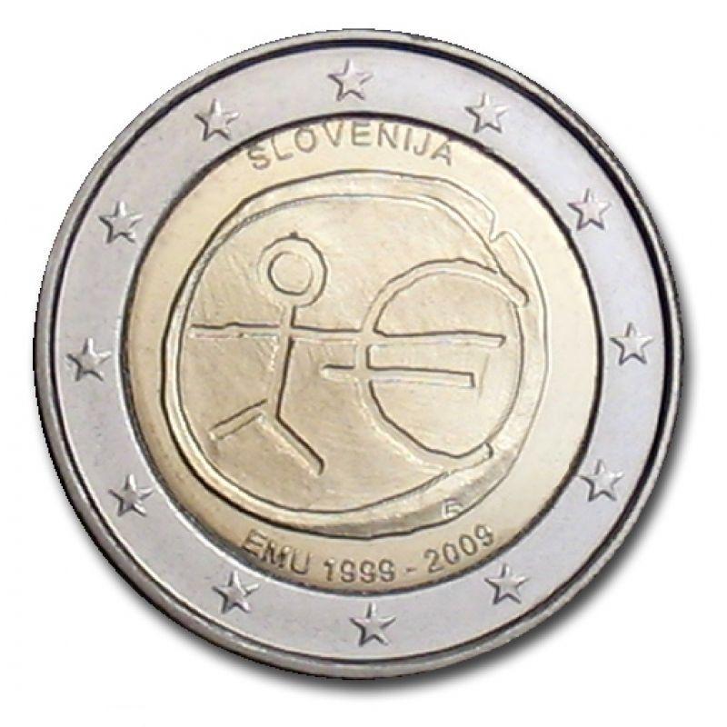 Monedas 2 € conmemorativas - 10 años EMU 2009 - Eslovenia 2 euros 2009