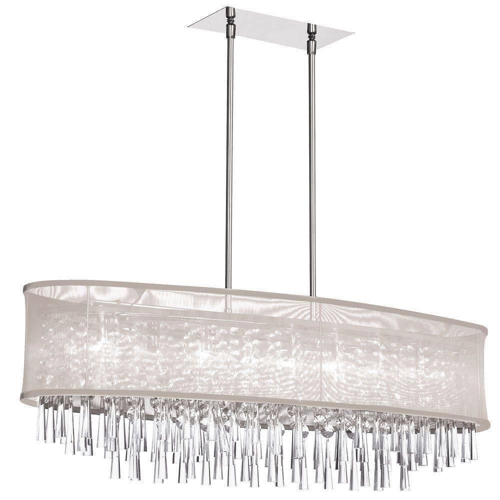8 light crystal oval polished chrome chandelier in oyster 8 light crystal oval chandelier polished chrome oval oyster organza shadespecification product dimensionsw x 38 d x 12 h x 12 in arubaitofo Choice Image