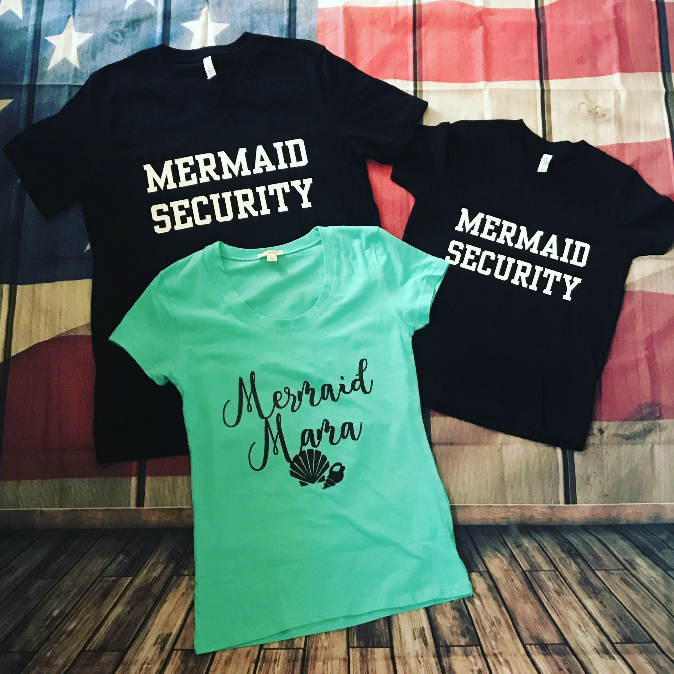 Mermaid Security Set and Mermaid Momma http://stores.ebay.com/diggtees/