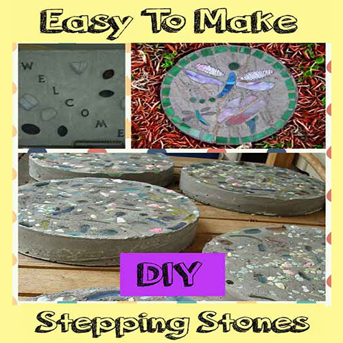Easy stepping stones for the garden. Creating garden stepping stones couldn't be this easy, could it?