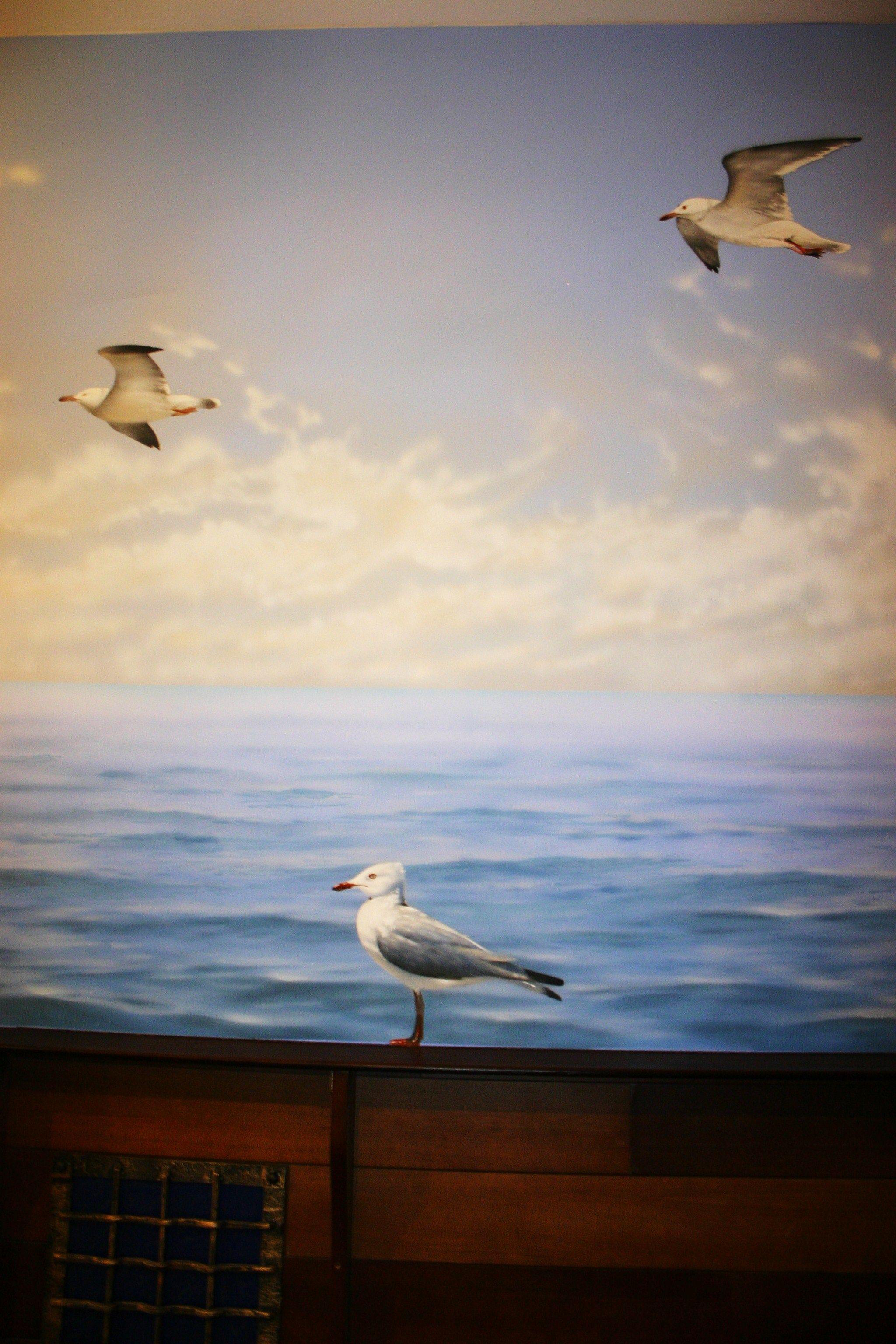 Pittura su muro.Autore  O Suprunovskij.Un ristorante a Mosca