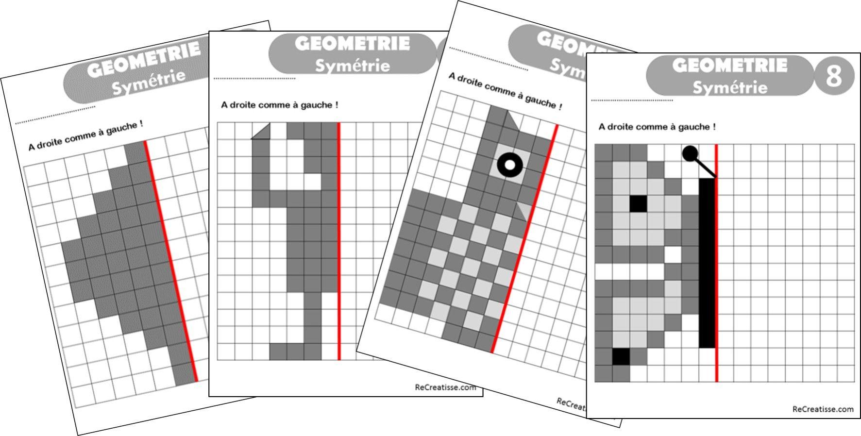 GEOMETRIE : ateliers symétrie et exercices | Géométrie ...