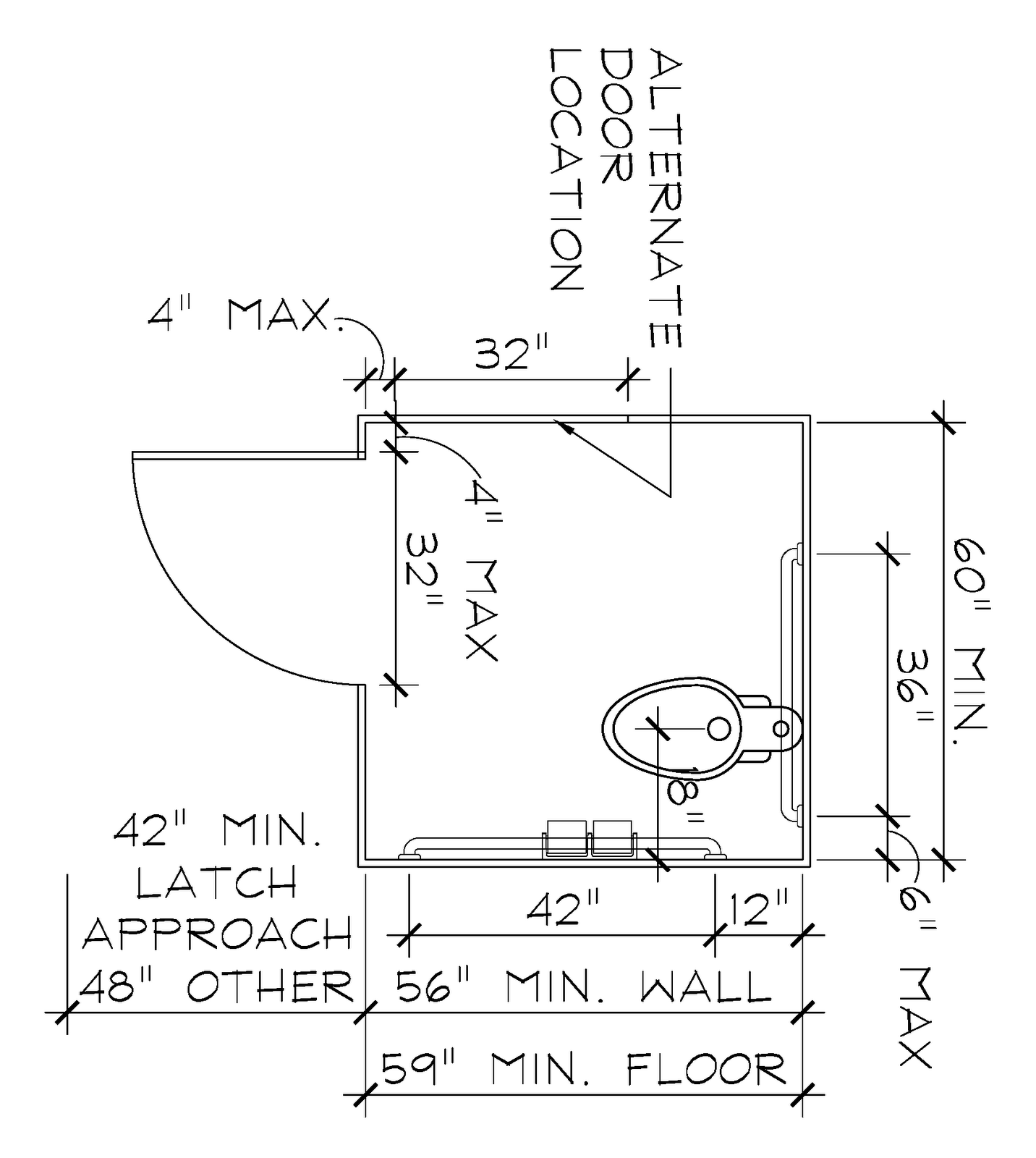 Shower Stall Diagram 1991 Toyota 4runner Stereo Wiring Ada Toilet Paper Holder Location With Weight And Grab Bar