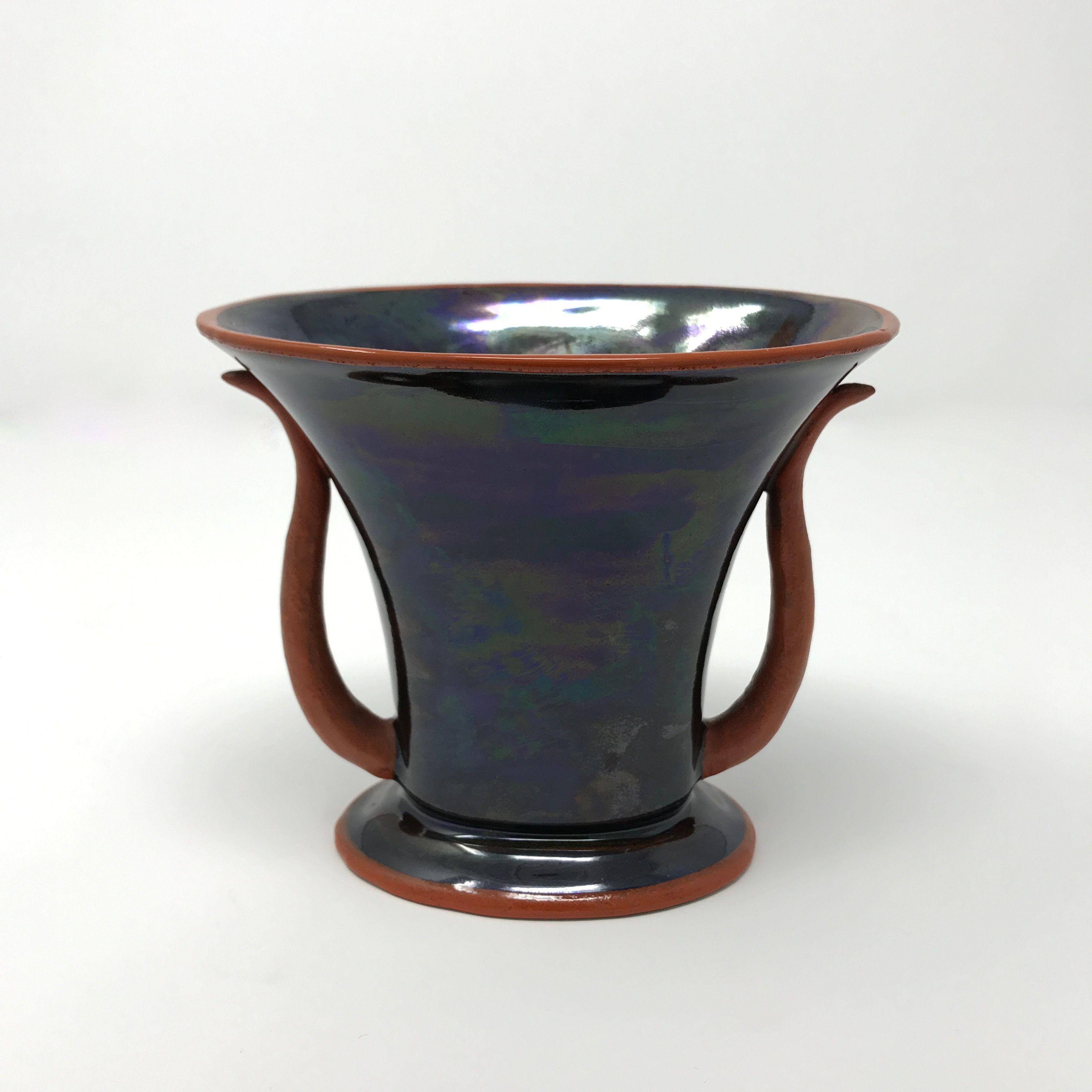 Gio ponti disegno e realizzazione rarissimo vaso in for Vaso greco a due anse