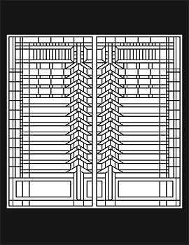 Frank Lloyd Wright Art Glass Coloring Book | architecture ...
