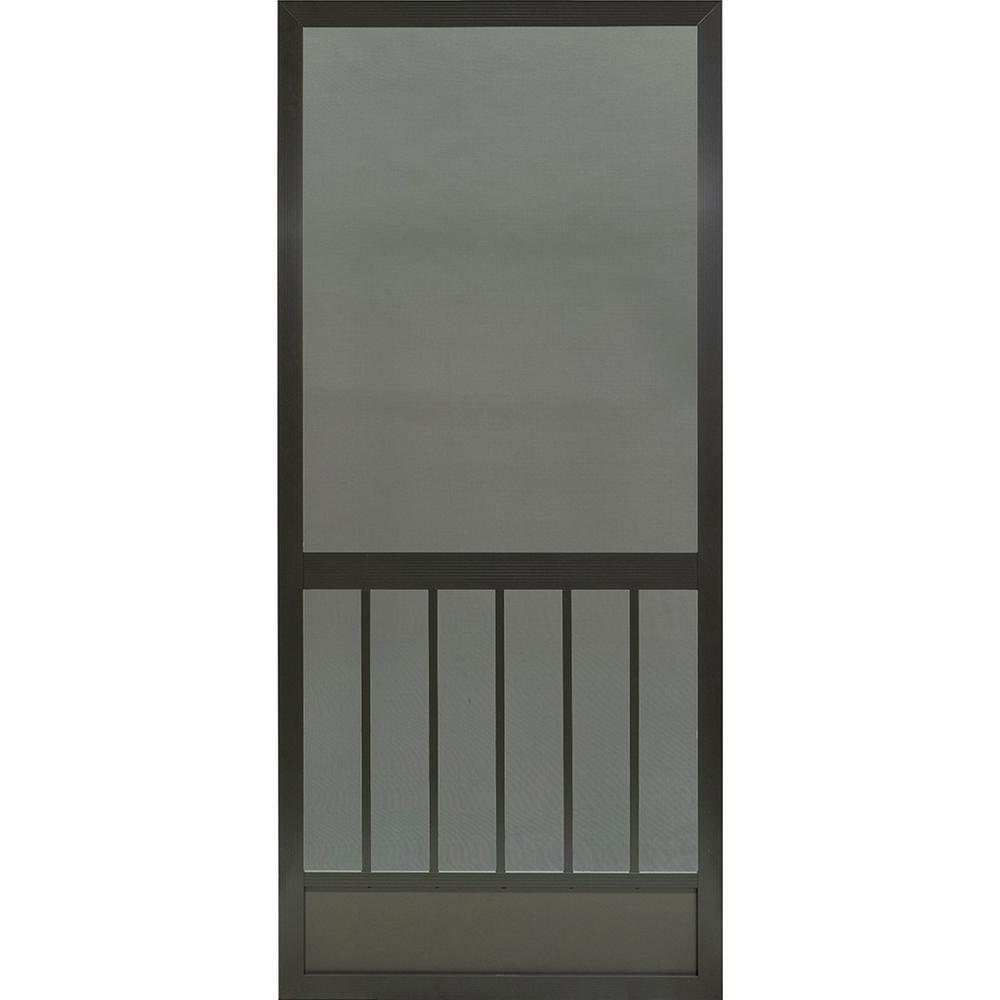 Pca Products 36 In X 80 In Westmore Bronze Aluminum Screen Door Aluminum Screen Doors Vinyl Screen Doors Aluminum Screen