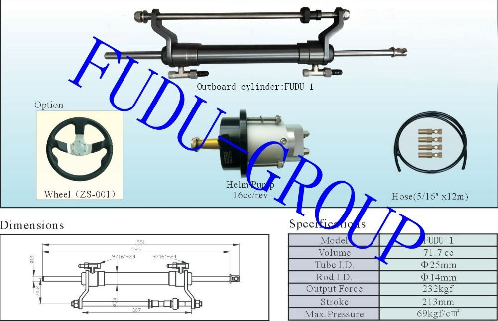 Outboard Hydraulic Steering System For Engines Till 100 Hp Hydraulic Steering Outboard Hydraulic