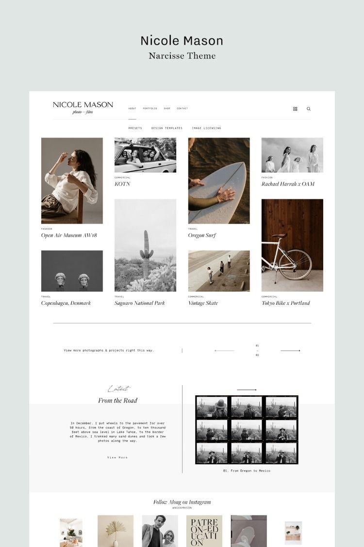 Narcisse Flothemes Photography Website Design Website Design Inspiration Minimal Web Design