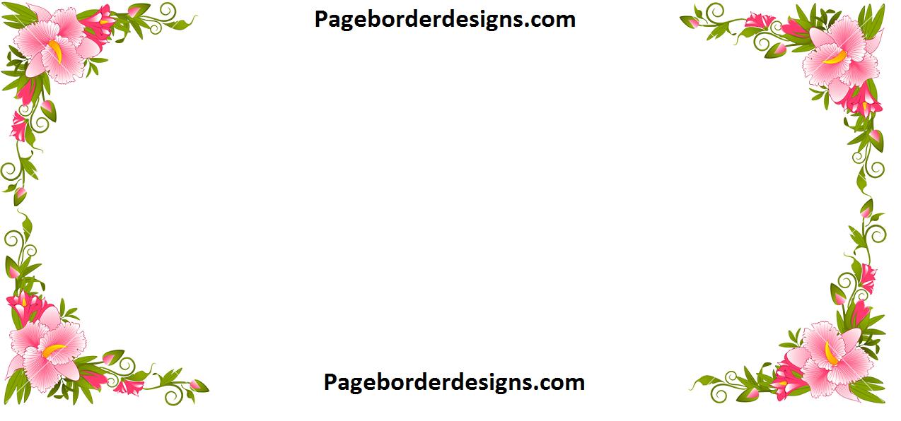 Amazing lilly flower corner border designs 2016 border