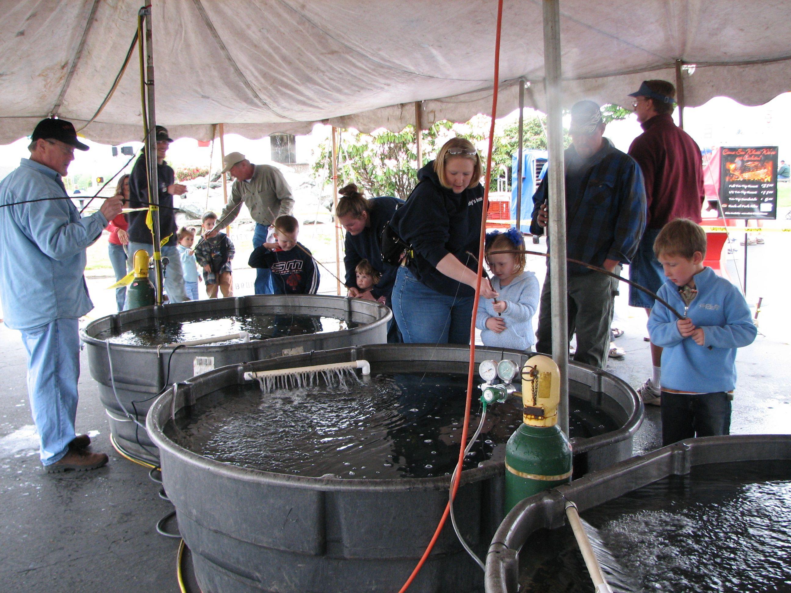 OSCF members helping kid's at the Azalea festival in