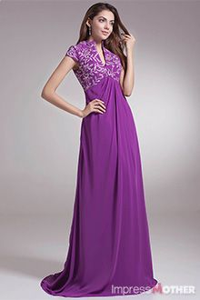 Purple Mother of the Bride Dresses - M0553 | PURPLE | Pinterest ...