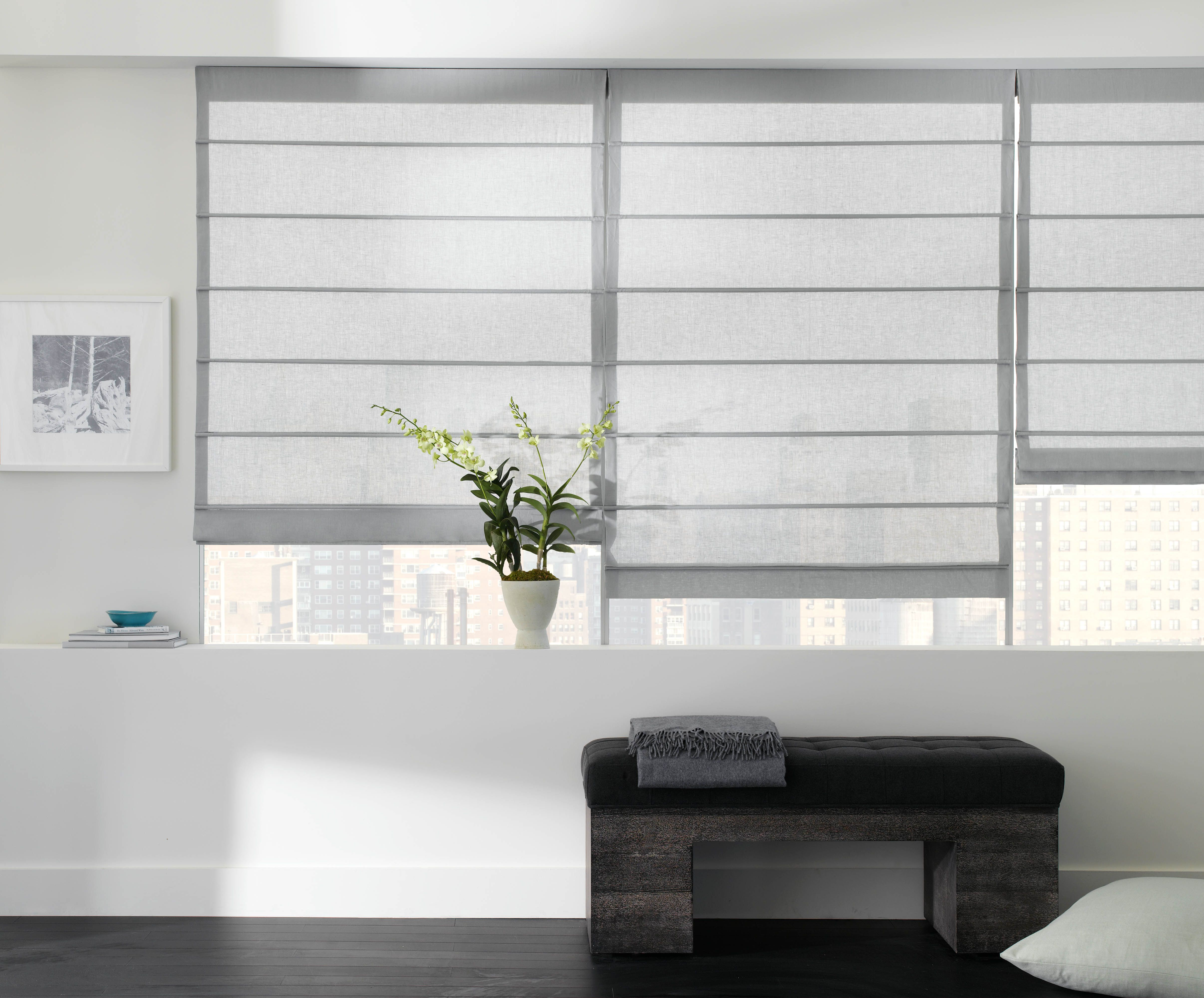 Contemporary window shades - Customized Fabric Roman Shades For Your Room S Unique Design The Shade Store Blog Modern Window