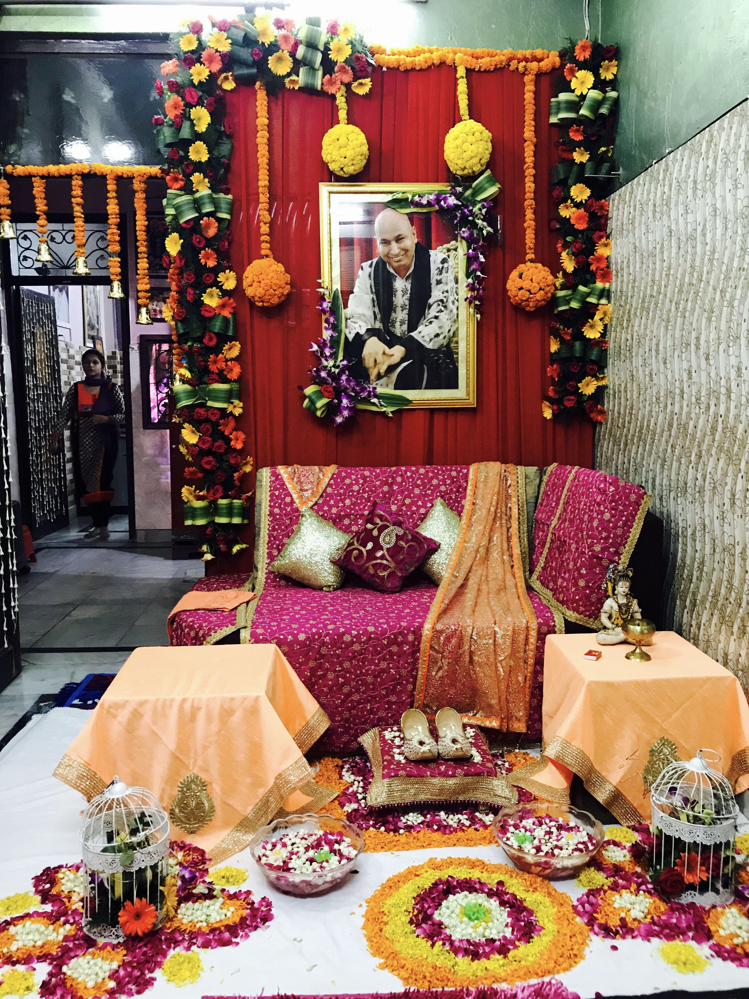 Guru ji Darbar   Shubh events stage in 2019   Decor, Table ...