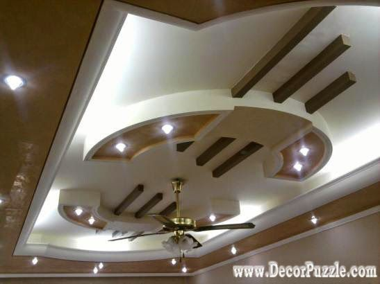 Pop false ceiling design for luxury living room interior for Latest ceiling designs living room