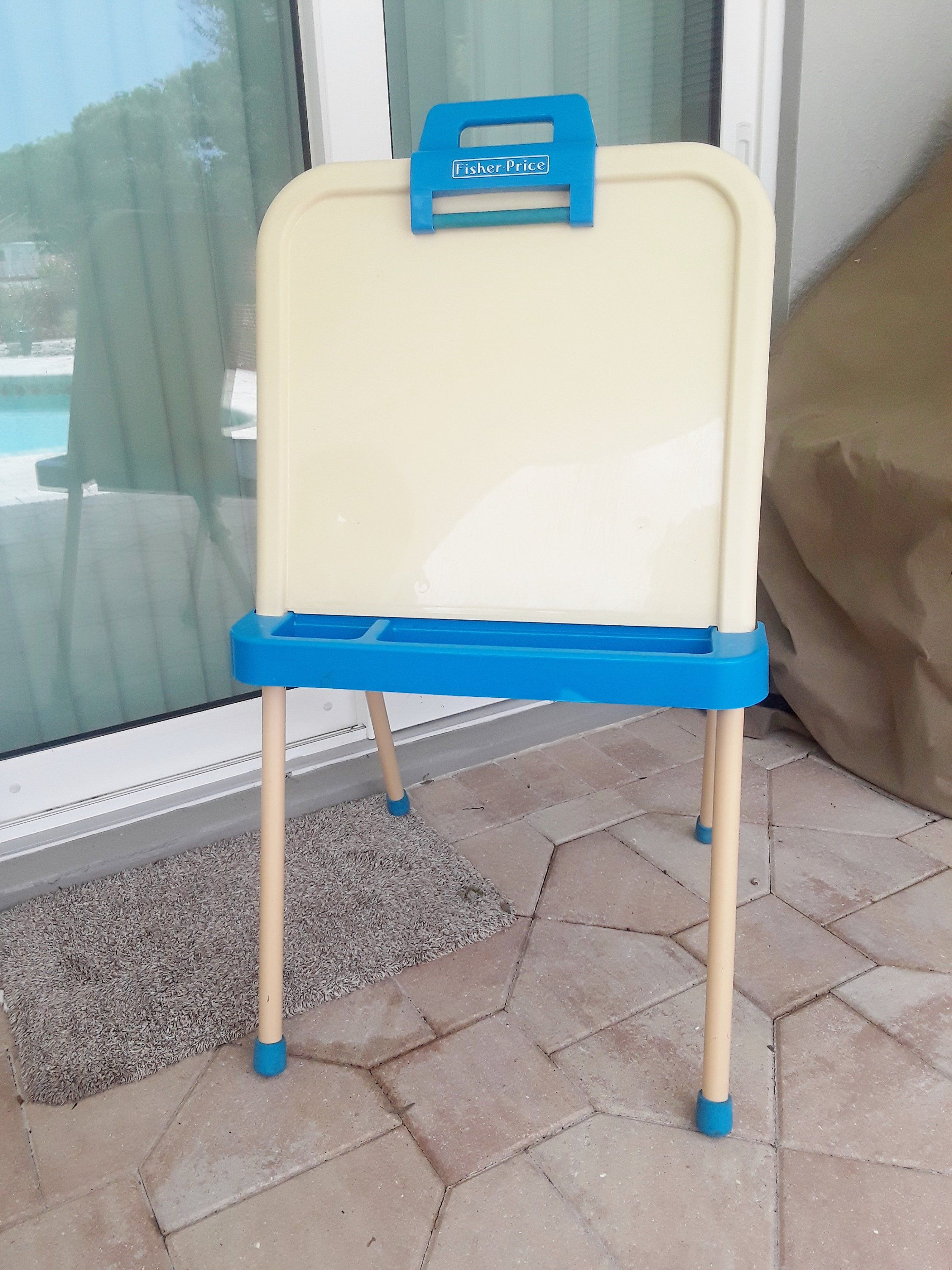 Vintage Fisher Price Art Easel Board Easel Craft Dry Erase Board Child S Coloring Art Board And Chalkboard Foldin Attic Remodel Attic Renovation Attic Playroom
