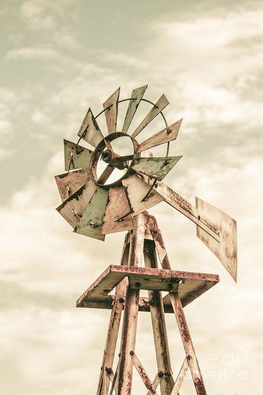 Australian Aermotor windmill Art Print by Jorgo Photography
