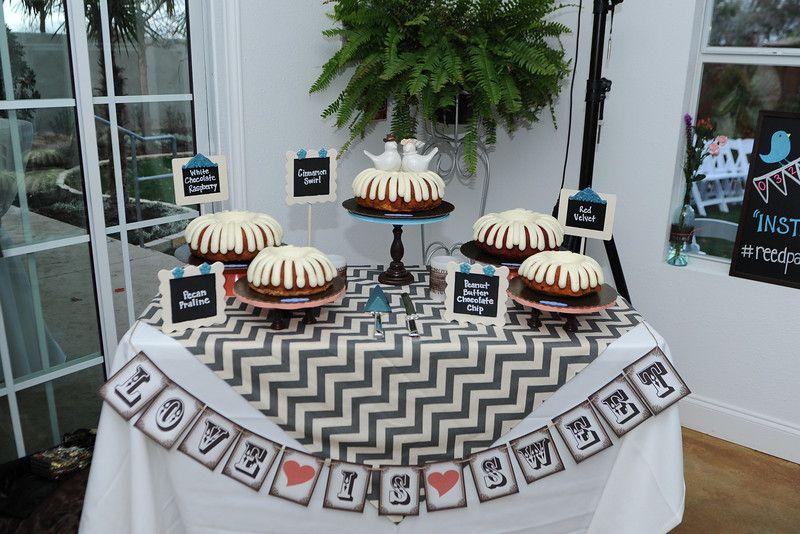 Cake table decor nothing bundt cakes cake table