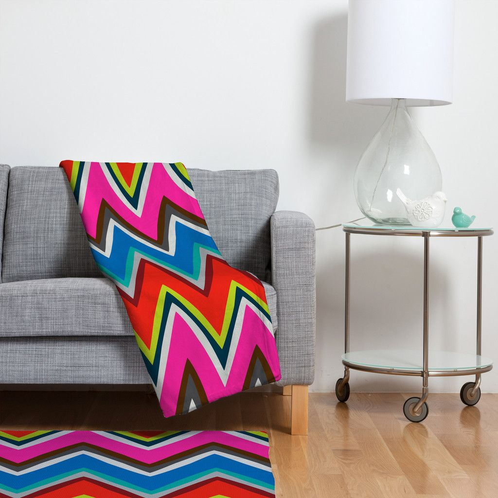 Holli Zollinger Chevron Boheme Fleece Throw Blanket | DENY Designs Home Accessories