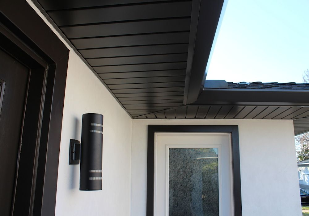 Seamless Aluminium Fascia And Soffit Black Exteriors