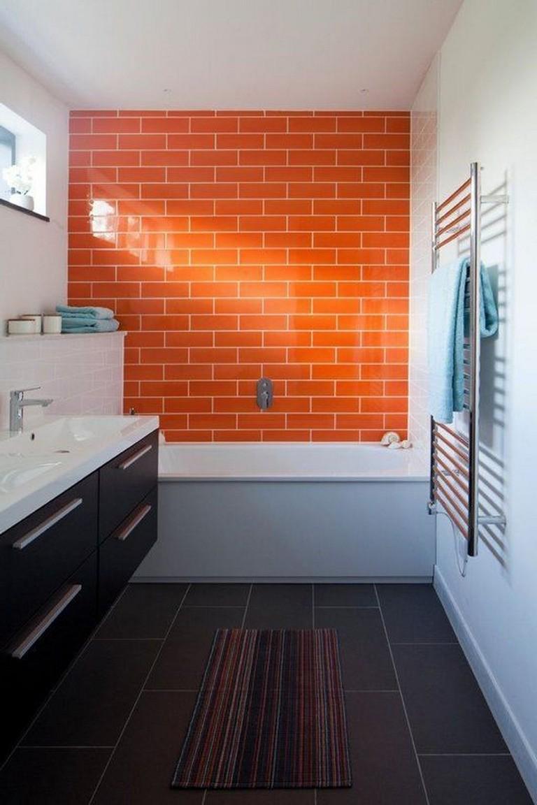 45 Amazing Bathroom Tiles Ideas Yellow Bathroom Walls Orange Bathroom Walls Yellow Bathrooms