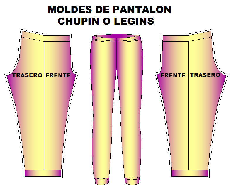 moldes pantalon chupin leggins dama   confeccion   Pinterest ...