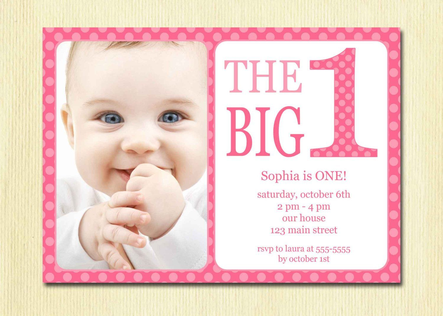 Free Printable 1st Birthday Invitation Template