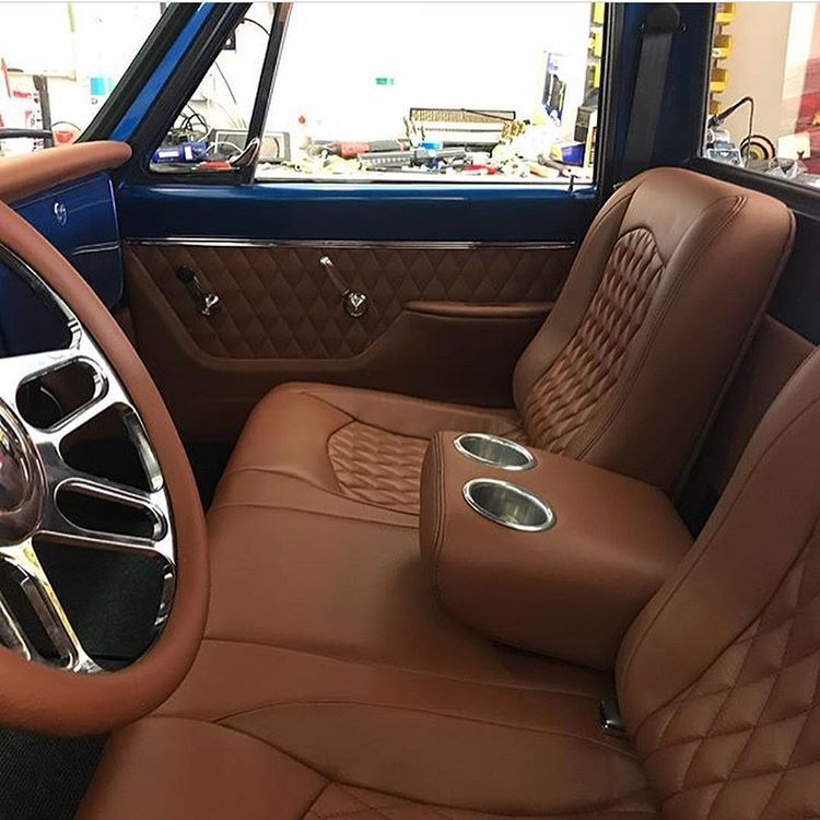 The Hog Ring On Instagram Custom 1968 Chevy Truck Interior By