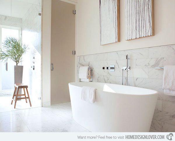 20 Exceptional and Stylish White Bathroom Designs Bathroom