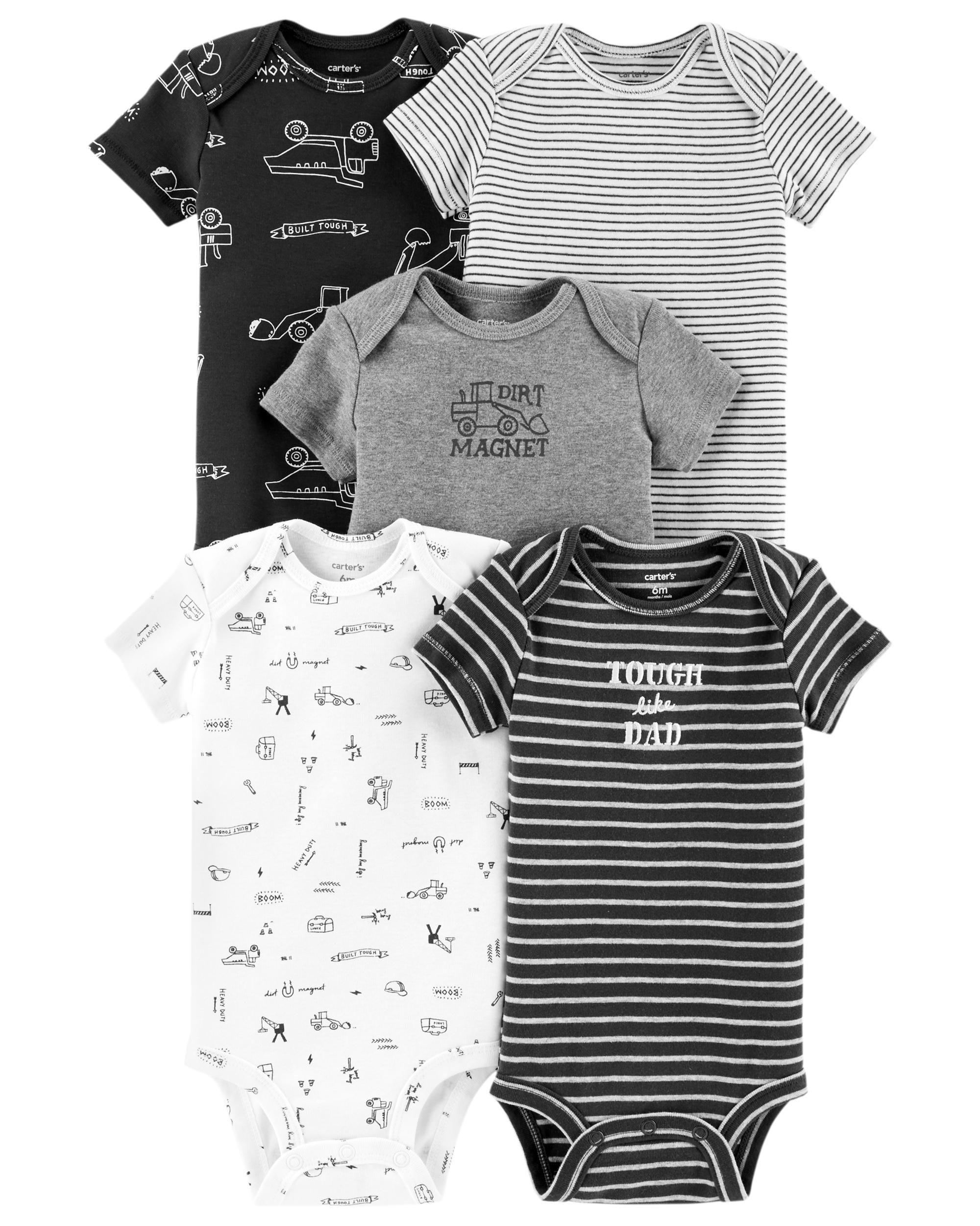 Baby Boy 5-Pack Construction Original Bodysuits  e8e2f2d83318