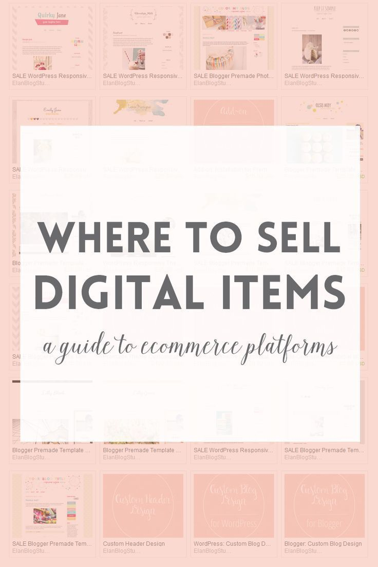 platforms or where to sell digital products