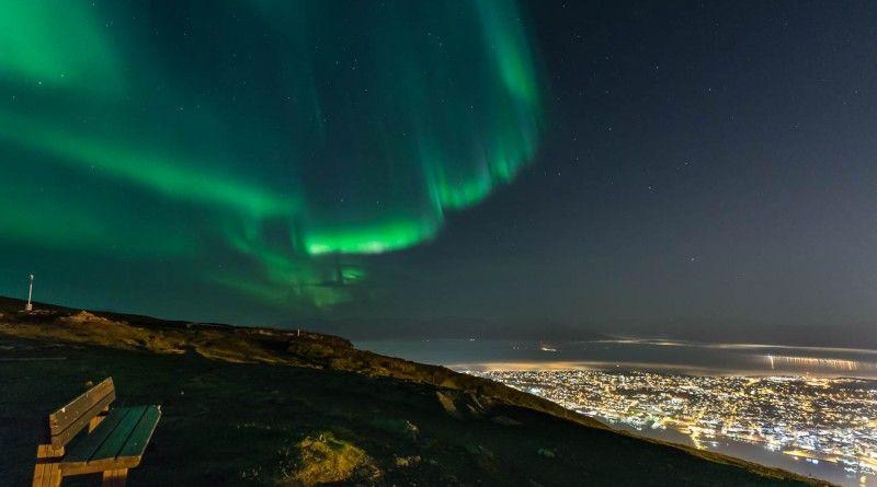 Auroras boreales sobre Tromsø, Noruega | El Universo Hoy