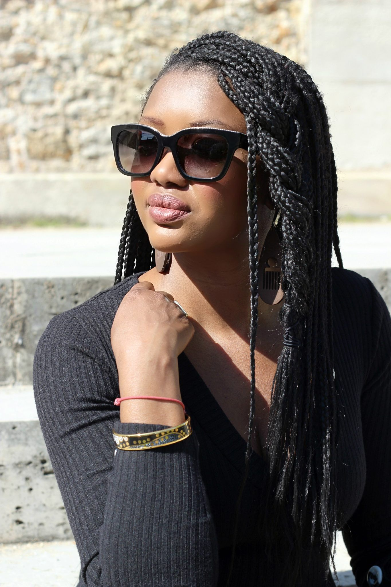 Camo In The City Timodelle Magazine Box Braids Hairstyles Coiffures De Filles Noires Tresses Afro