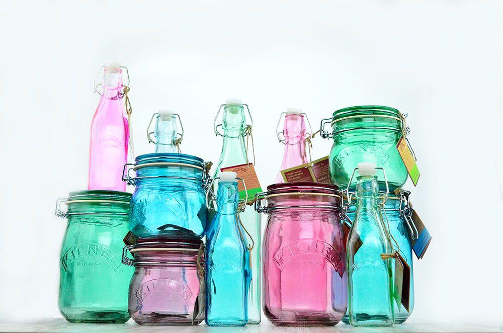 kilner farbige gl ser und flaschen einmachgl ser aufbewahrungs gl ser und flaschen. Black Bedroom Furniture Sets. Home Design Ideas
